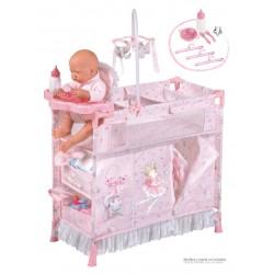 Armoire Table à Langer de Poupées Pliable Magic María DeCuevas Toys 53034